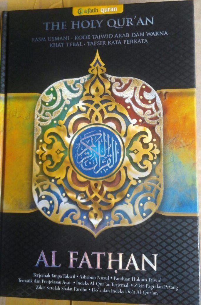 AQ153 Al-Quran Al Fathan Tajwid Warna Tafsir Perkata A5 70.000 15% 59.500 AlFatih Quran cover