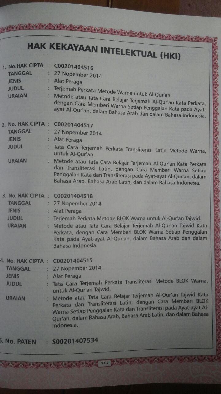 AQ154 Al-Quran Al-Hijr Terjemah Perkata Dua Warna Transliterasi A5 76.000 15% 64.600 Cordoba isi 2
