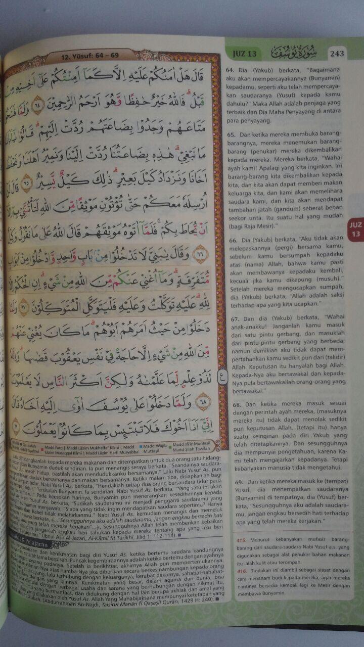Al-Qur'an Terjemah Tajwid Warna Al-Haramain Tafsir Ringkas A5 79,500 15% 67,575 Cordoba isi 2