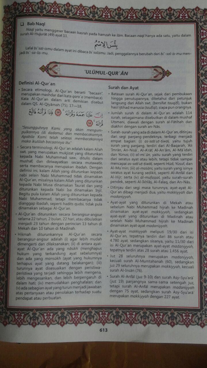 Al-Qur'an Aljamil Tajwid Warna Terjemah Perkata Inggris A4 110.000 15% 93.500 Dar As-Salam isi 2