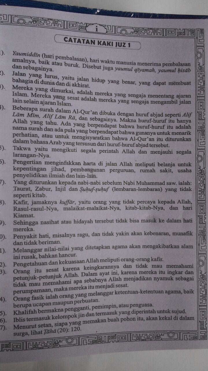 Al-Qur'an Per Juz Mujazza Terjemah Ayat Pojok Garis B5 160.000 10% 144.000 Asy-Syifa' isi 5