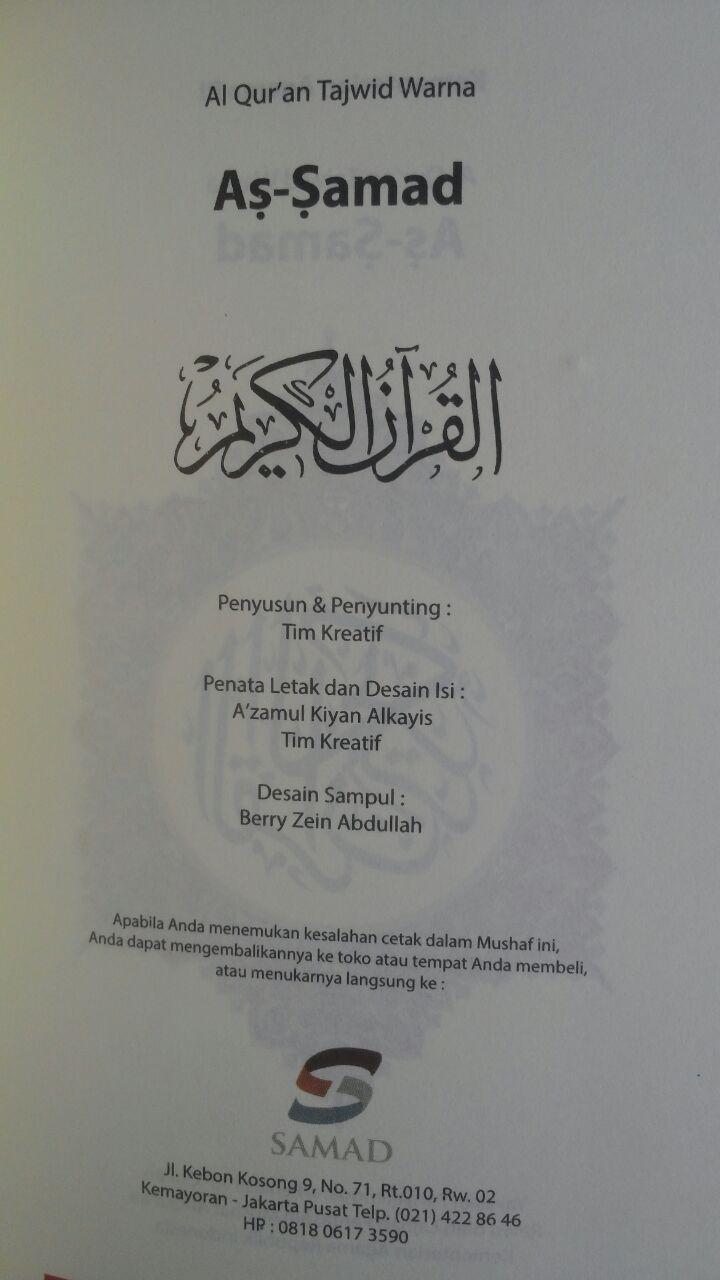 Al-Qur'an Tajwid Warna Tanpa Terjemah As-Samad A5 60,000 15% 51,000 Samad isi