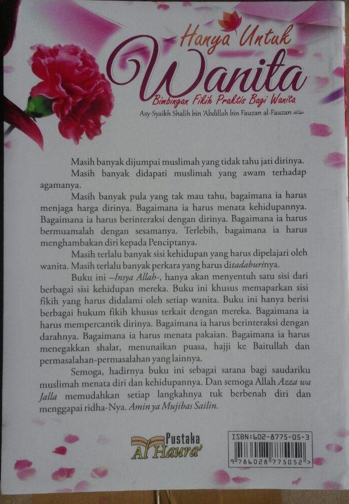 BK2966 Buku Hanya Untuk Wanita Bimbingan Fikih Praktis Bagi Wanita 35.000 15% 29.750 Al-Haura Shalih bin Abdillah bin Fauzan Al Fauzan cover