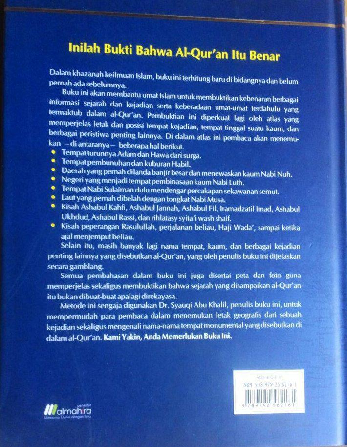 BK2967 Buku Atlas Al-Qur'an 250.000 15% 212.500 Almahira Syauqi Abu Kholil cover