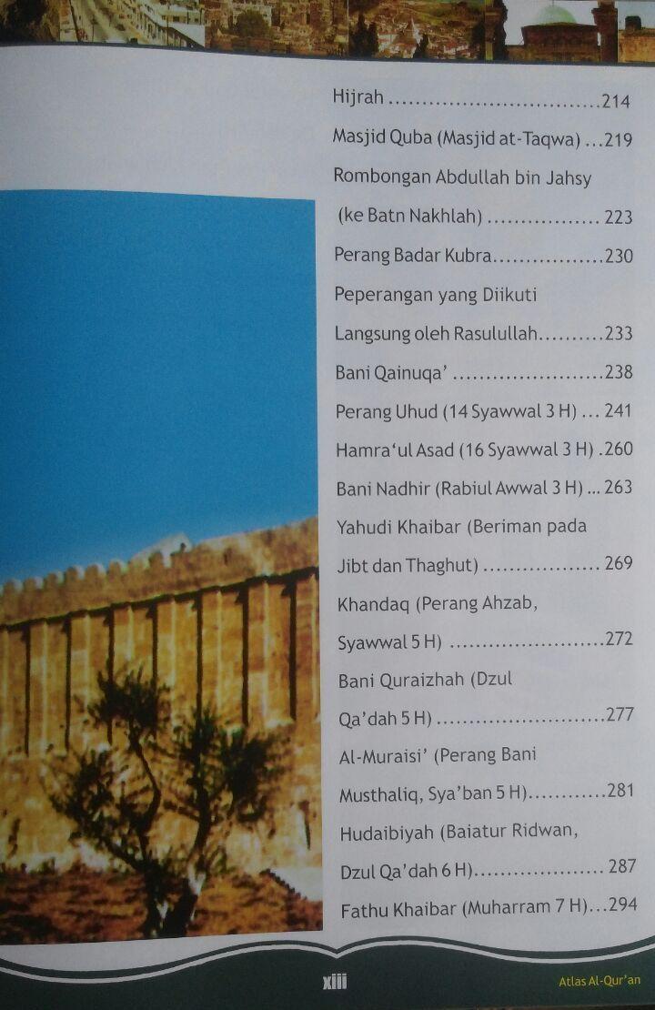 BK2967 Buku Atlas Al-Qur'an 250.000 15% 212.500 Almahira Syauqi Abu Kholil isi 3