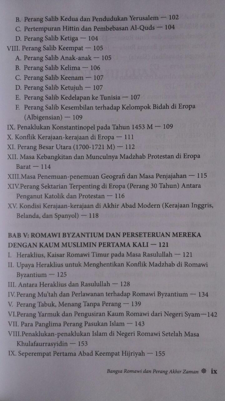 Buku Bangsa Romawi Dan Perang Akhir Zaman 58.000 20% 46.400 Pustaka Al-Kautsar Manshur Abdul Hakim isi