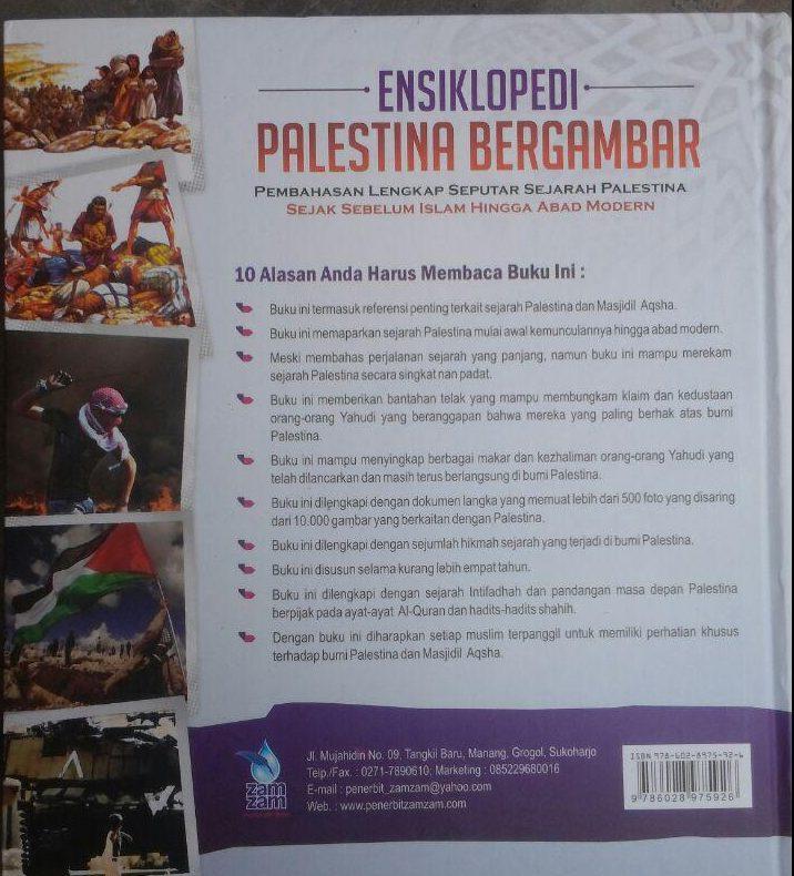 Buku Ensiklopedi Palestina Bergambar 160.000 20% 128.000 Zam Zam Thariq As-Suwaidan cover