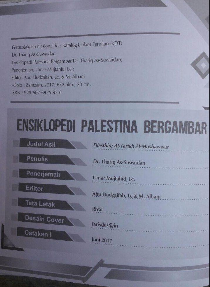 Buku Ensiklopedi Palestina Bergambar 160.000 20% 128.000 Zam Zam Thariq As-Suwaidan isi