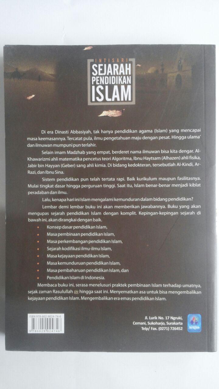 Buku Intisari Sejarah Pendidikan Islam 42.000 15% 35.700 Pustaka Arafah Muhammad Hambal Shafwan cover