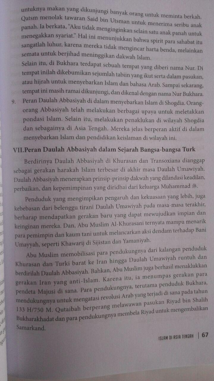 Buku Islam Di Asia Tengah Sejarah Peradaban Dan Kebudayaan 78.000 20% 62.400 Pustaka Al-Kautsar Muhammad Abdul Adzim isi 3