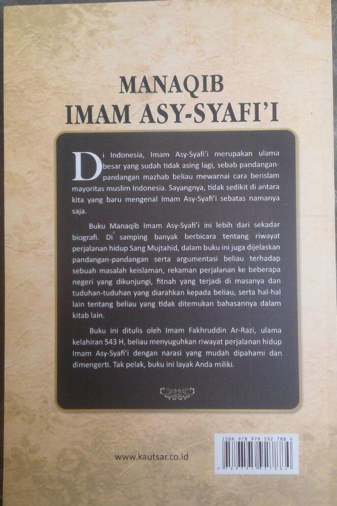 Buku Manaqib Imam As-Syafi'i 72.000 20% 57.600 Pustaka Al-Kautsar Imam Fakhruddin Ar-Razi cover