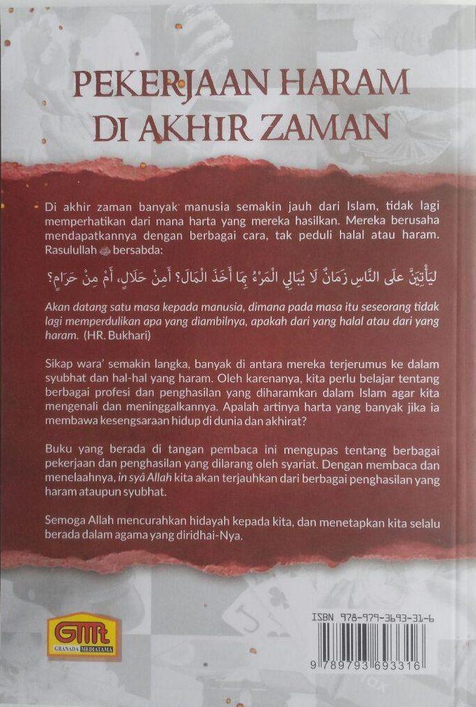 Buku Pekerjaan Haram Di Akhir Zaman 15 Profesi Haram 42,000 15% 35,700 Granada Mediatama cover