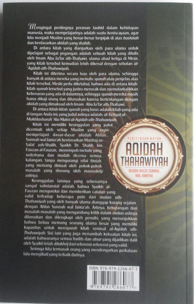 Buku Penjelasan Matan Aqidah Thahawiyah Akidah Ahlussunnah 60,000 20% 48,000 Darul Haq cover