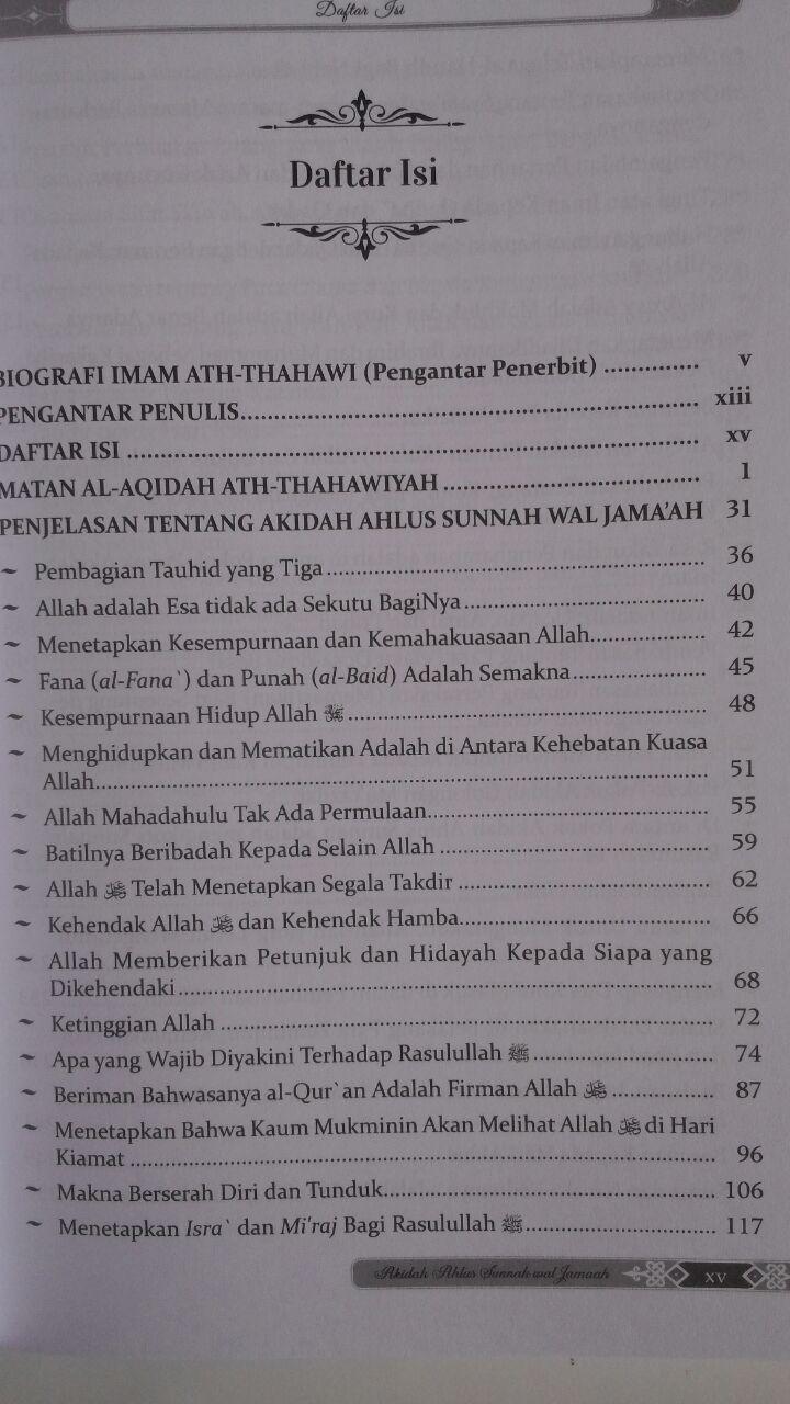 Buku Penjelasan Matan Aqidah Thahawiyah Akidah Ahlussunnah 60,000 20% 48,000 Darul Haq isi