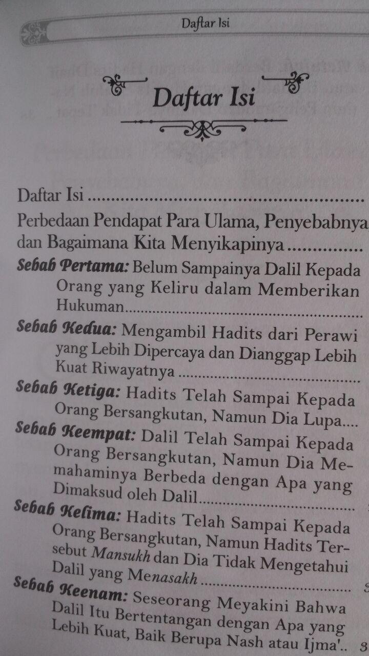 Buku Saku Sebab-Sebab Perbedaan Pendapat Para Ulama 7.000 15% 5.950 Darul Haq Muhammad bin Shalih Al-Utsaimin isi 3