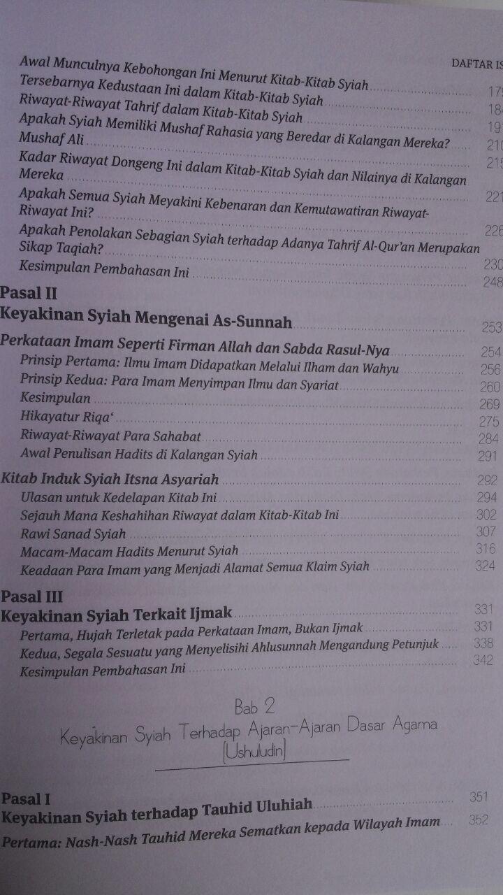 Buku Ushul Madzhab Syiah Uraian Dan Kritik Doktrin Syiah Imamiyah 300,000 20% 240,000 Al-Qowam isi 2