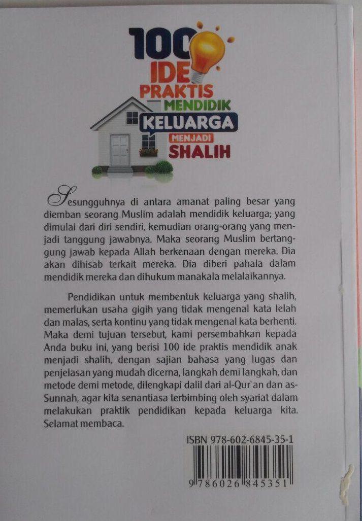 Buku 100 Ide Prakis Mendidik Keluarga Menjadi Shalih 15.000 15% 12.750 Darul Haq Abdul Lathif bin Hajis Al-Ghamidi cover
