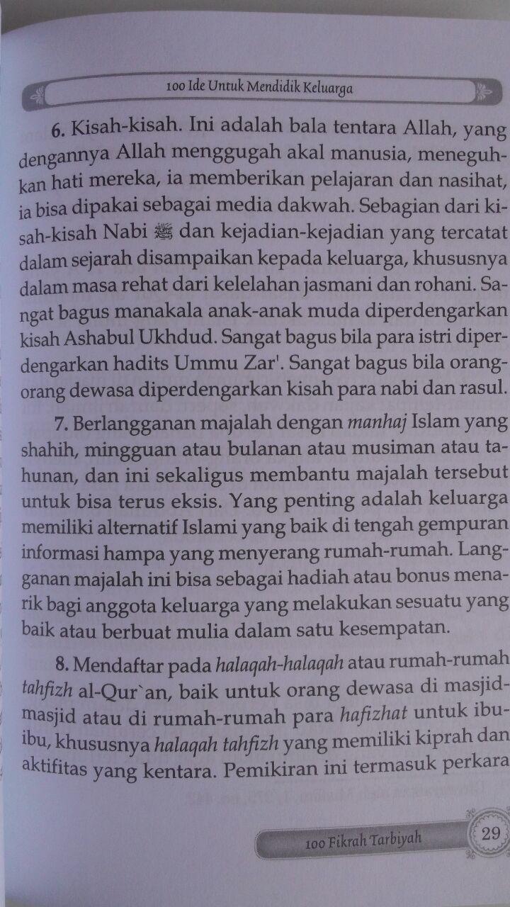 Buku 100 Ide Prakis Mendidik Keluarga Menjadi Shalih 15.000 15% 12.750 Darul Haq Abdul Lathif bin Hajis Al-Ghamidi isi 3