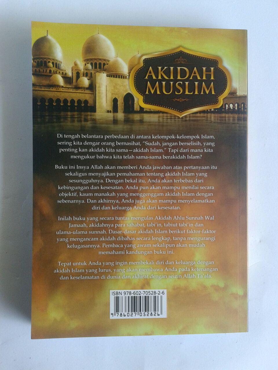 Buku Akidah Muslim Landasan Pokok Akidah Ahlussunnah cover