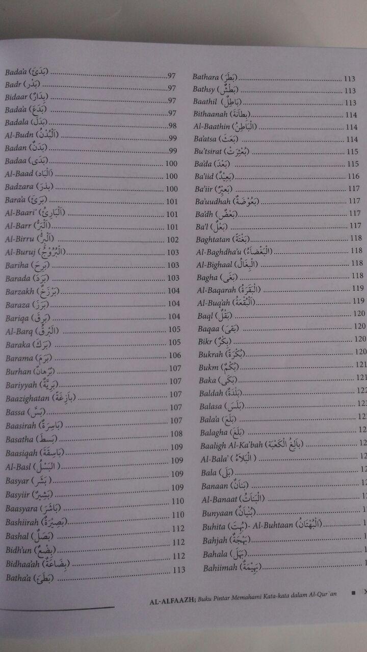 Buku Al-Alfaazh Buku Pintar Memahami Kata-Kata Dalam Al-Qur'an 298.000 20% 238.400 Pustaka Al-Kautsar Masduha isi 2