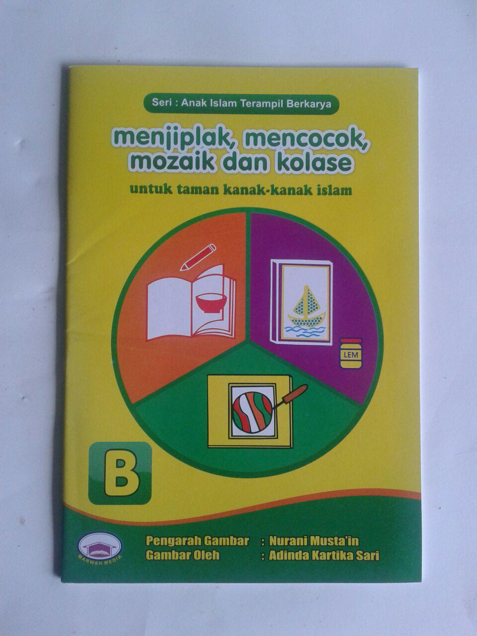 Buku Anak Menjiplak Mencocok Mozaik Dan Kolase Set 2 Jilid cover 4