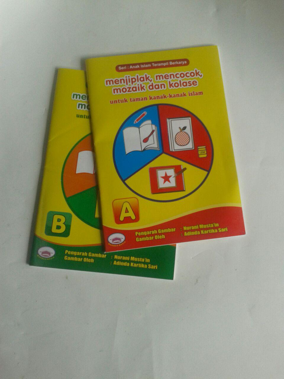 Buku Anak Menjiplak Mencocok Mozaik Dan Kolase Set 2 Jilid cover