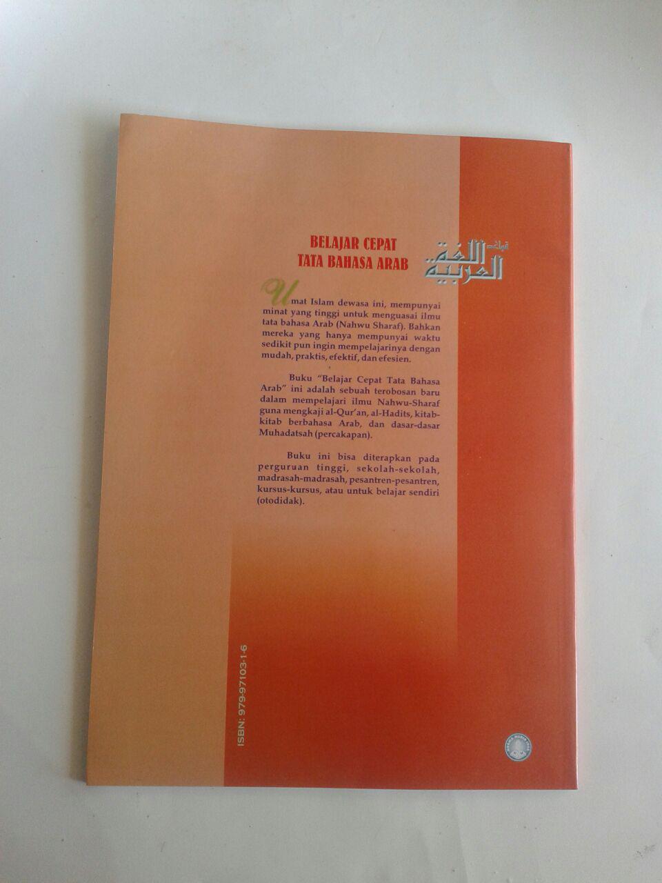 Buku Belajar Cepat Tata Bahasa Arab Plus cover