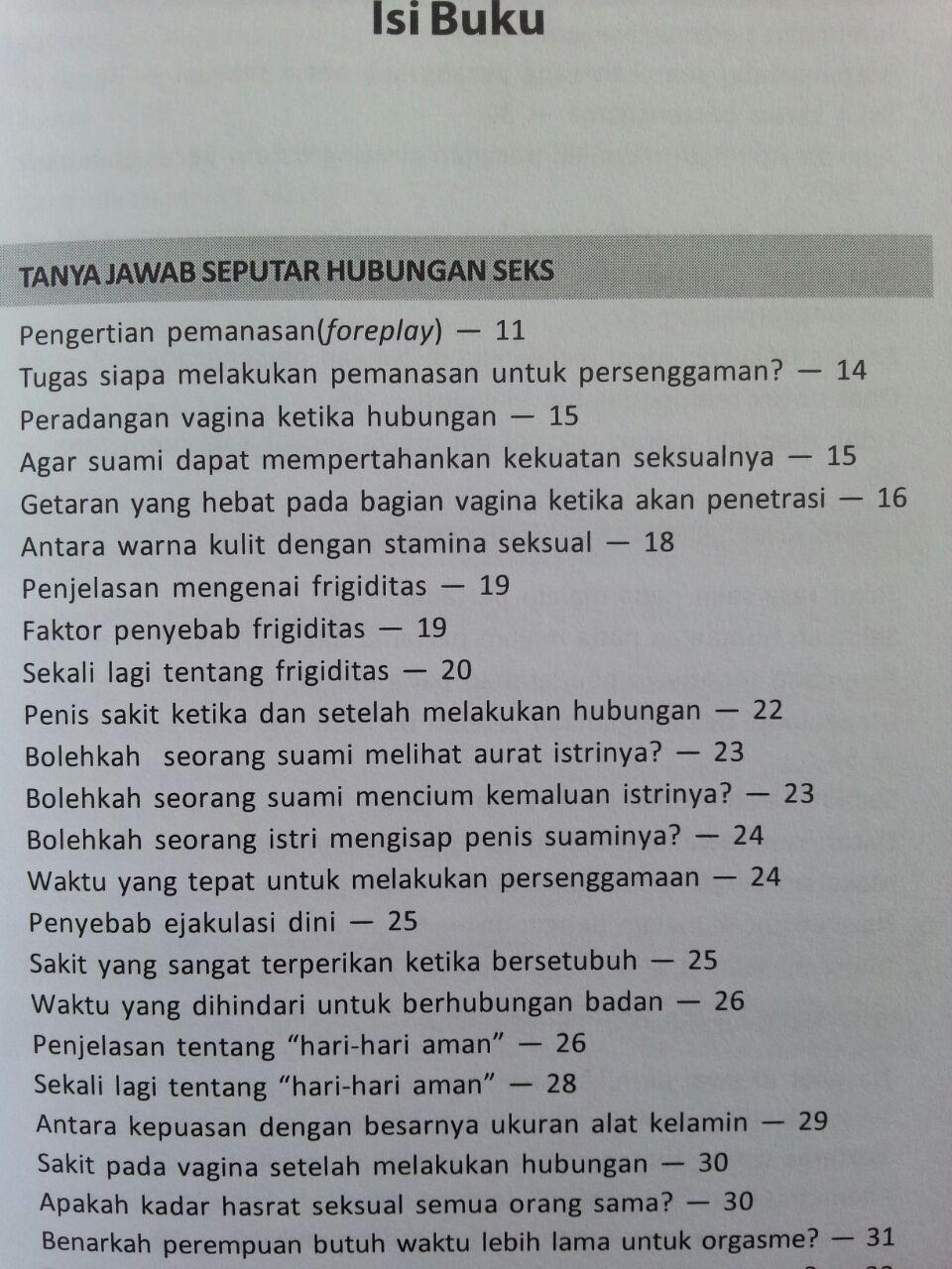 Buku Malu Bertanya Sesat Di Ranjang 150 Problem Sering Terjadi isi 2