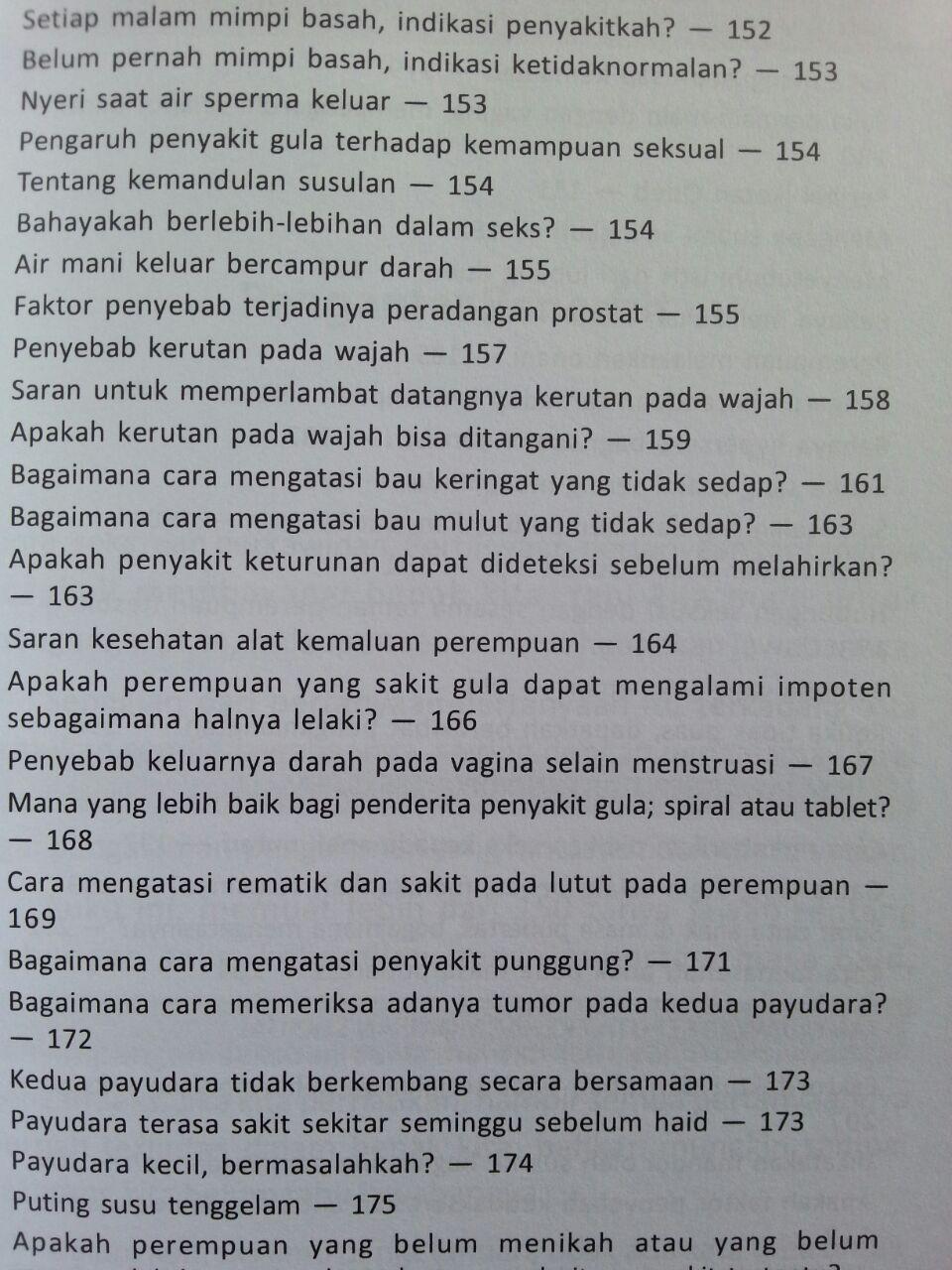 Buku Malu Bertanya Sesat Di Ranjang 150 Problem Sering Terjadi isi 3