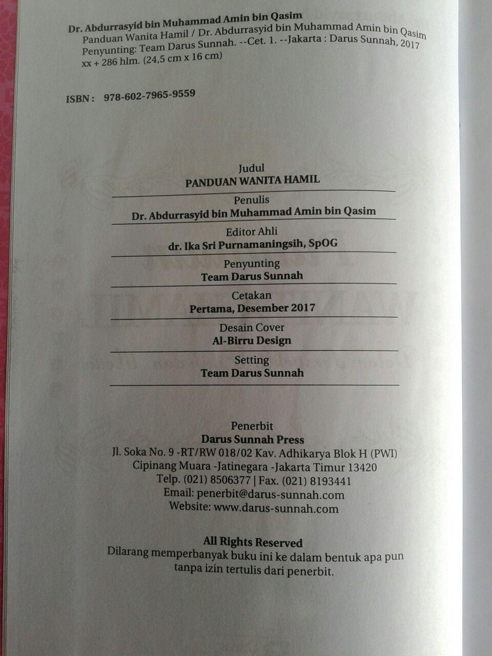 Buku Panduan Wanita Hamil Dalam Perspektif Fikih Dan Medis isi 2
