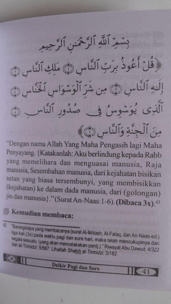Buku Saku Shahih Al-Ma'tsurat Dzikir Pagi Dan Sore 6.000 15% 5.100 Maktabah Al-Hanif Sa'id bin Ali bin Wahf AL-Qahthani isi 2