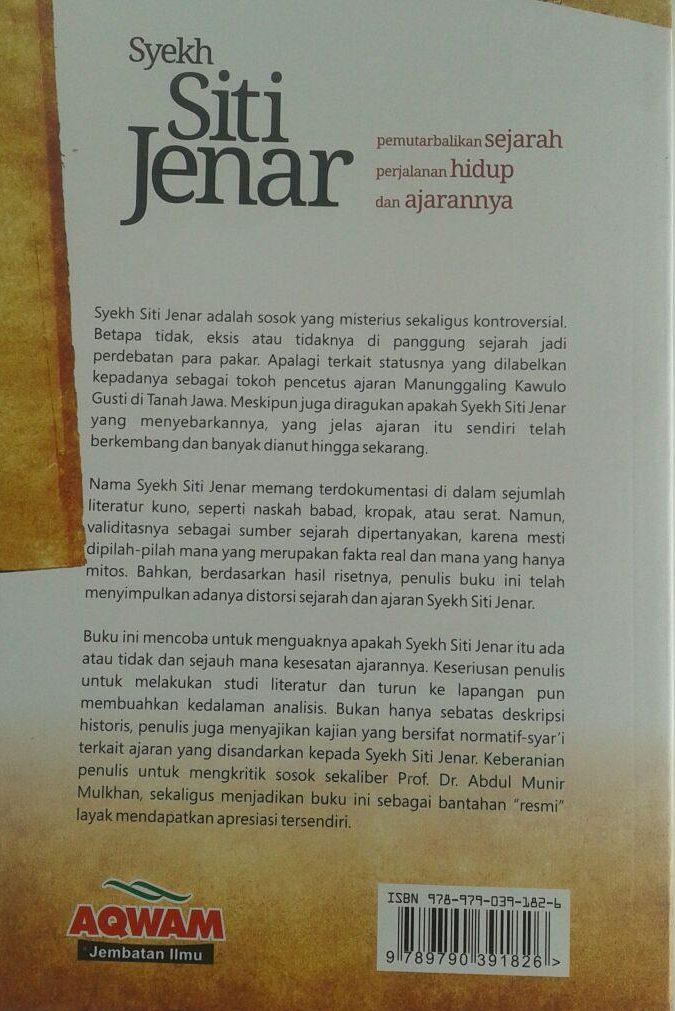 Buku Syekh Siti Jenar Pemutarbalikan Sejarah Hidup Ajaran cover