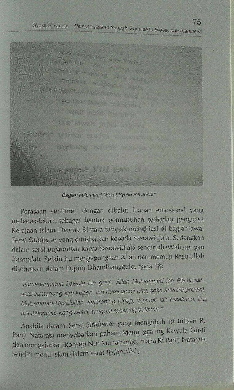 Buku Syekh Siti Jenar Pemutarbalikan Sejarah Hidup Ajaran isi 2