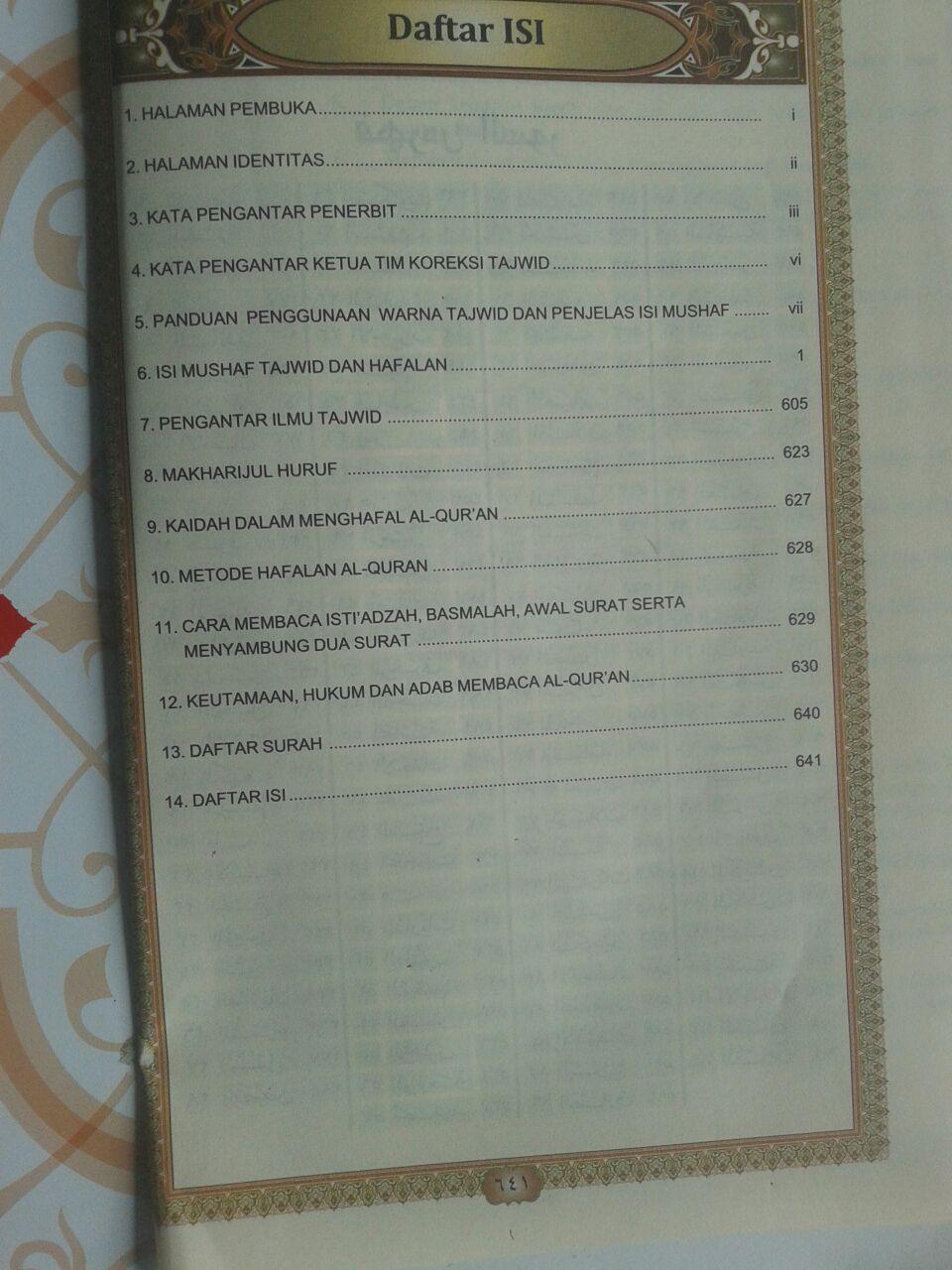 Al-Qur'an Mushaf Tajwid Terlengkap dan Hafalan isi 2