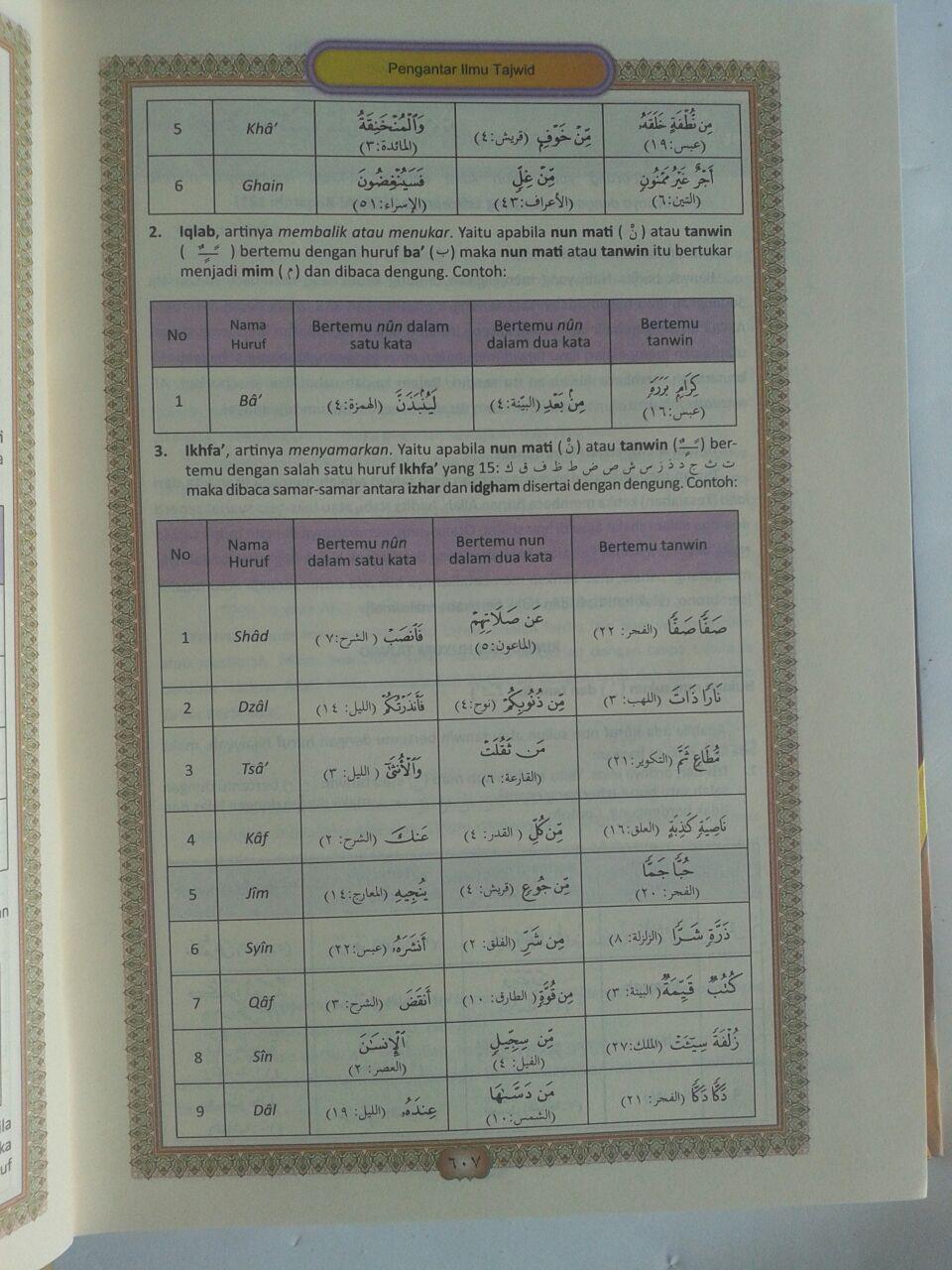 Al-Qur'an Mushaf Tajwid Terlengkap dan Hafalan isi