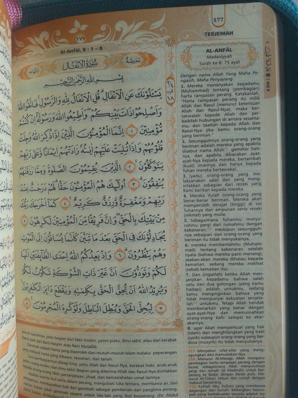 Al-Qur'an Muslimah Tanpa Terjemah Resleting Tali A6 isi 2