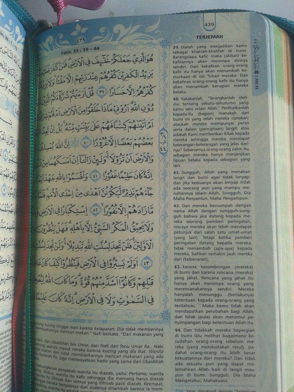 Al-Qur'an Muslimah Tanpa Terjemah Resleting Tali A6 isi 3