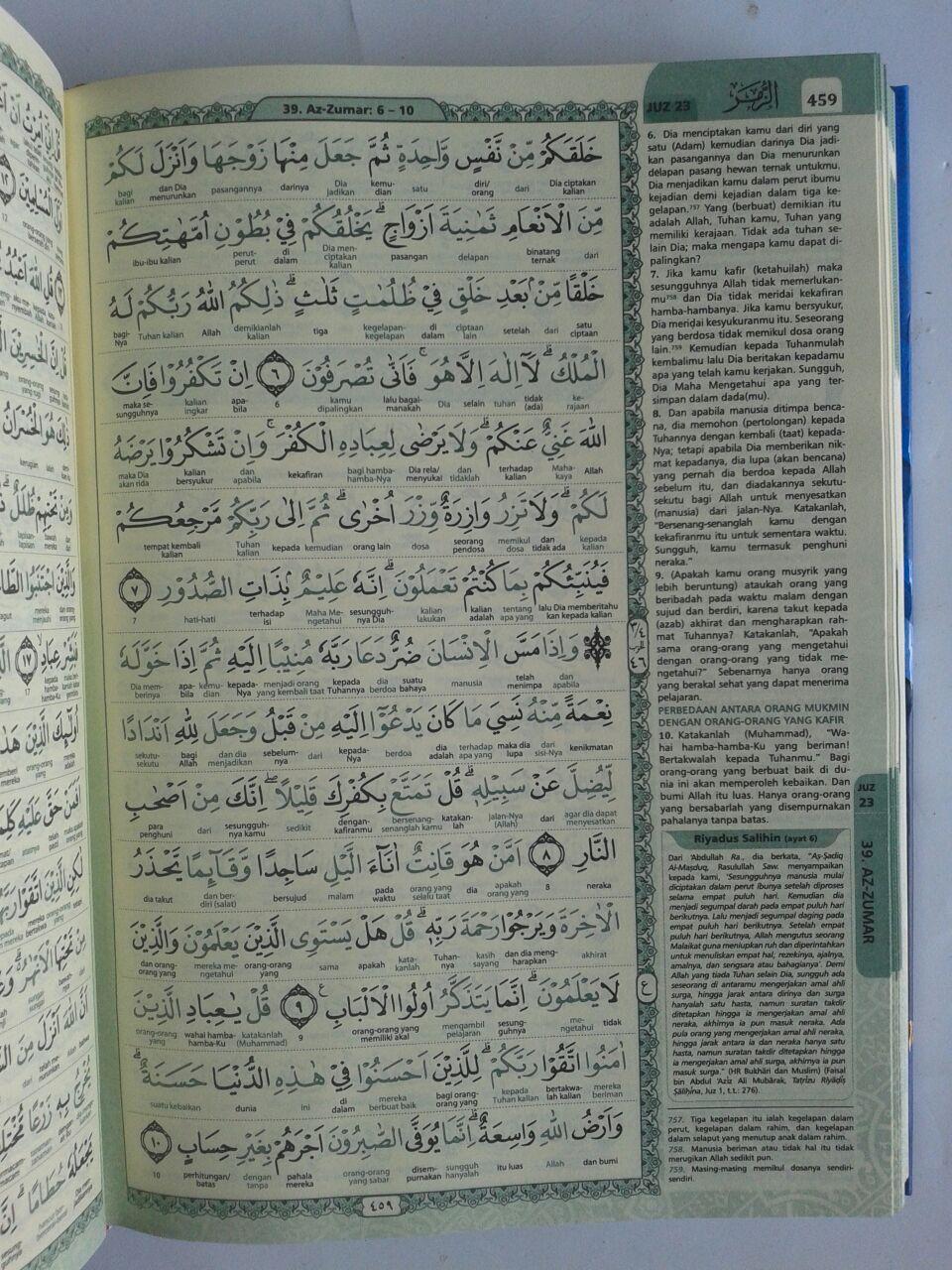 Al-Qur'an Terjemah Perkata Warna Ar-Riyadh Ukuran A5 isi 2