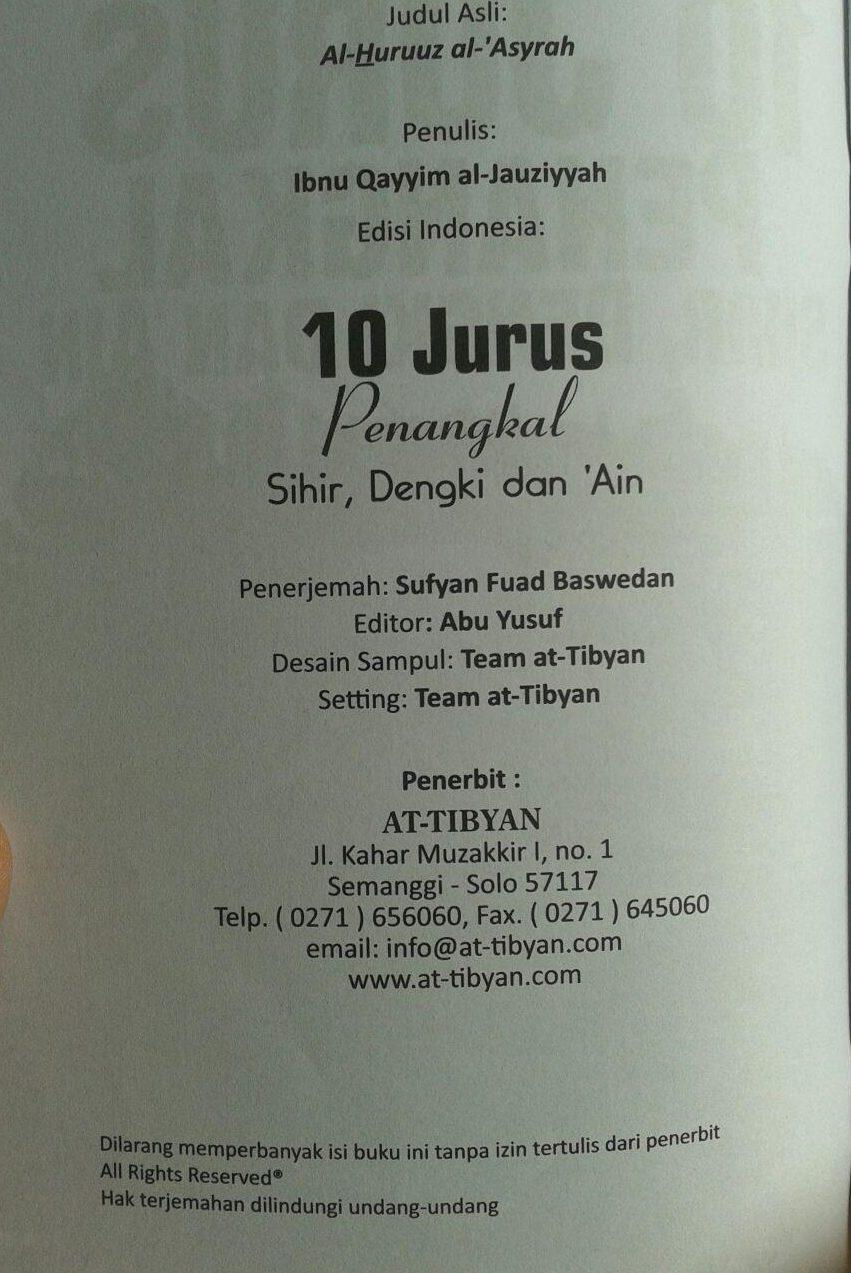 Buku 10 Jurus Penangkal Sihir Dengki Dan Ain isi 2