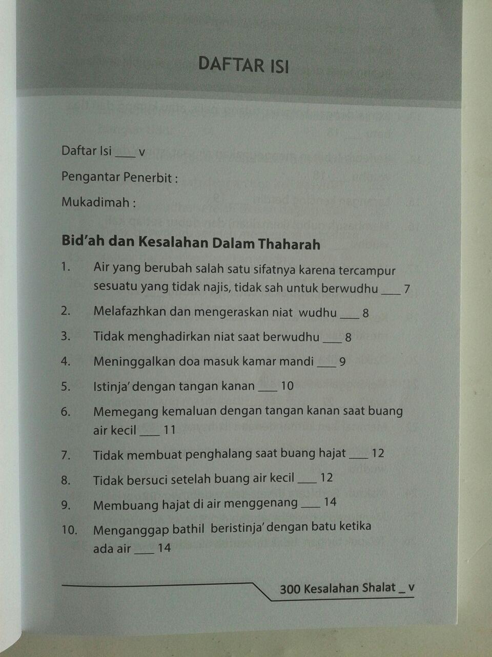 Buku 300 Kesalahan Shalat Yang Sering Diremehkan isi 2
