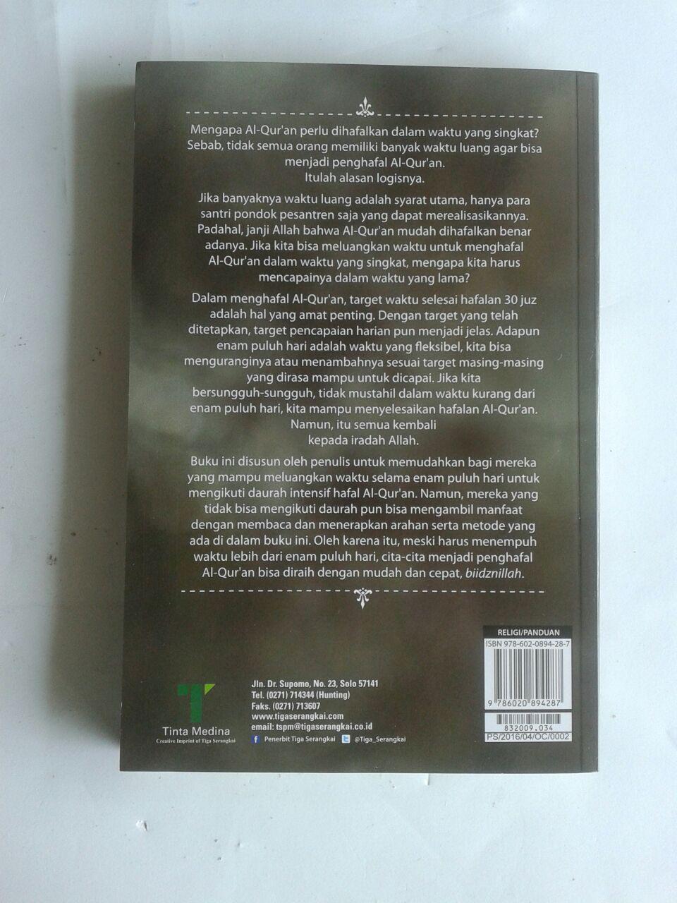 Buku 60 Hari Hafal Al-Qur'an Panduan Daurah Aplikatif cover