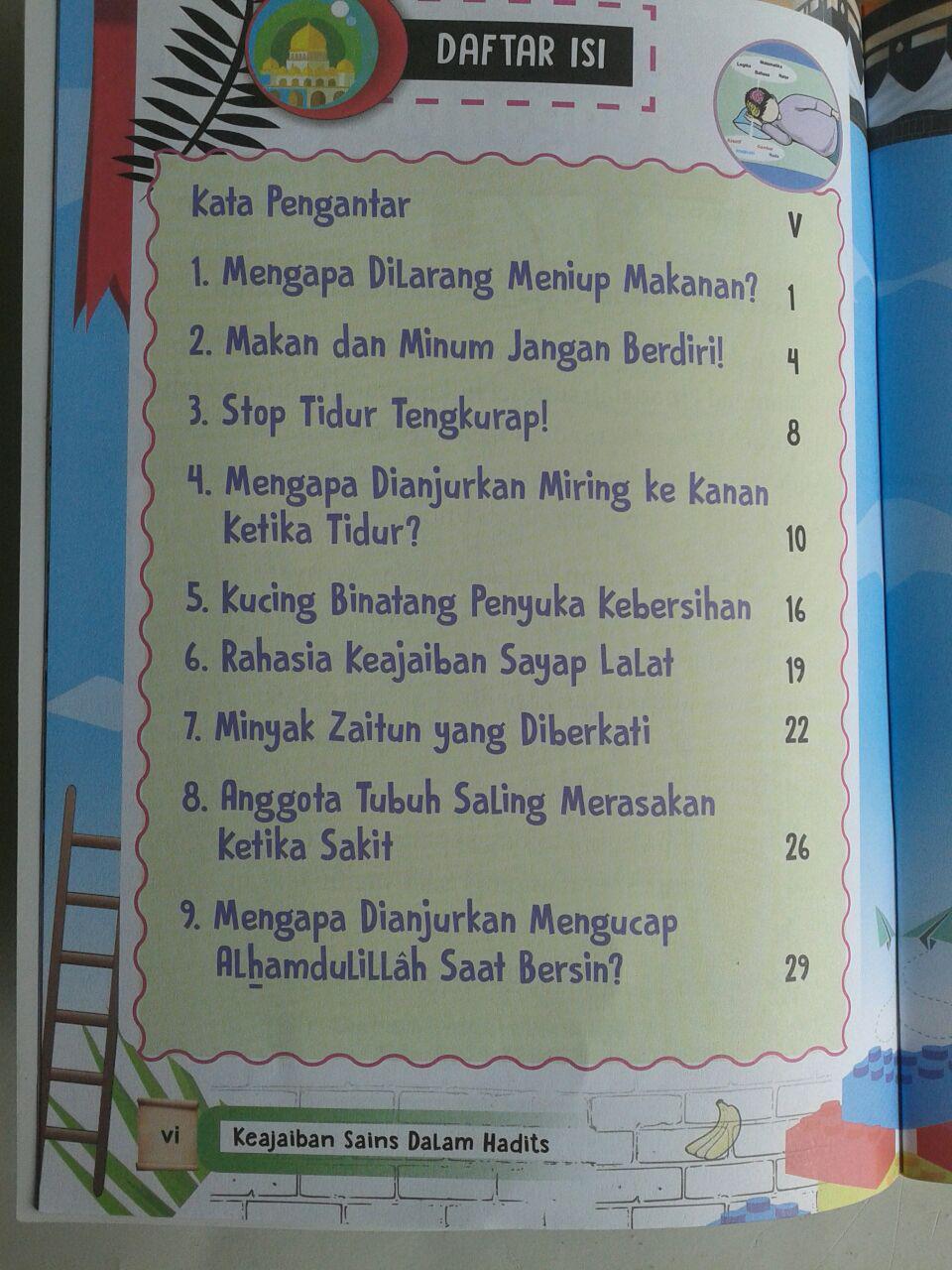 Buku Anak Masya Allah Inilah Keajaiban Sains Dalam Hadits isi 2
