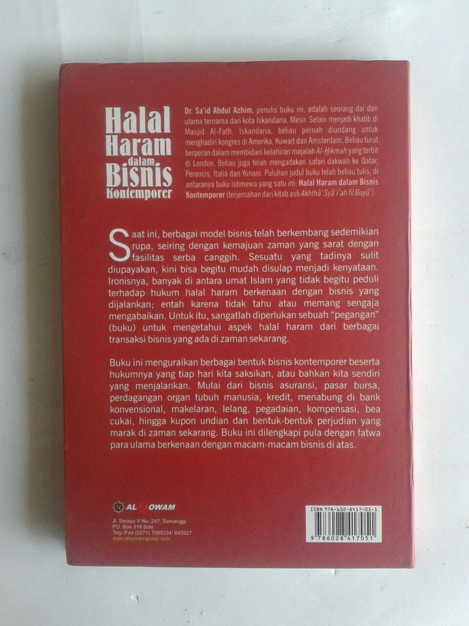 Buku Halal Haram Dalam Bisnis Kontemporer cover