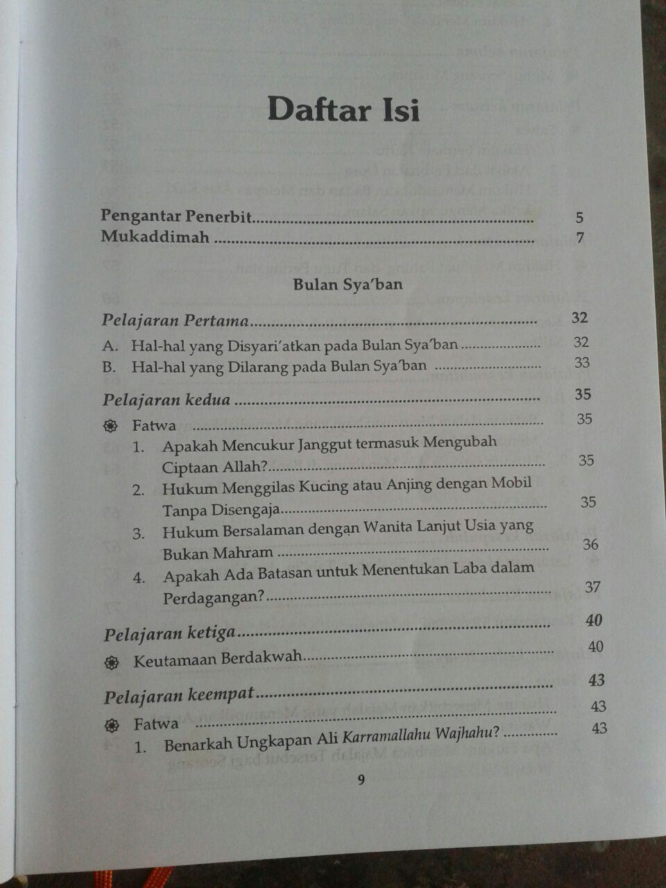 Buku Kultum Setahun 1 Set 2 Jilid isi 3