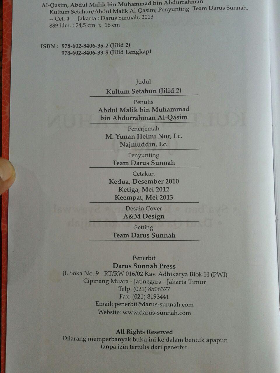 Buku Kultum Setahun 1 Set 2 Jilid isi 4