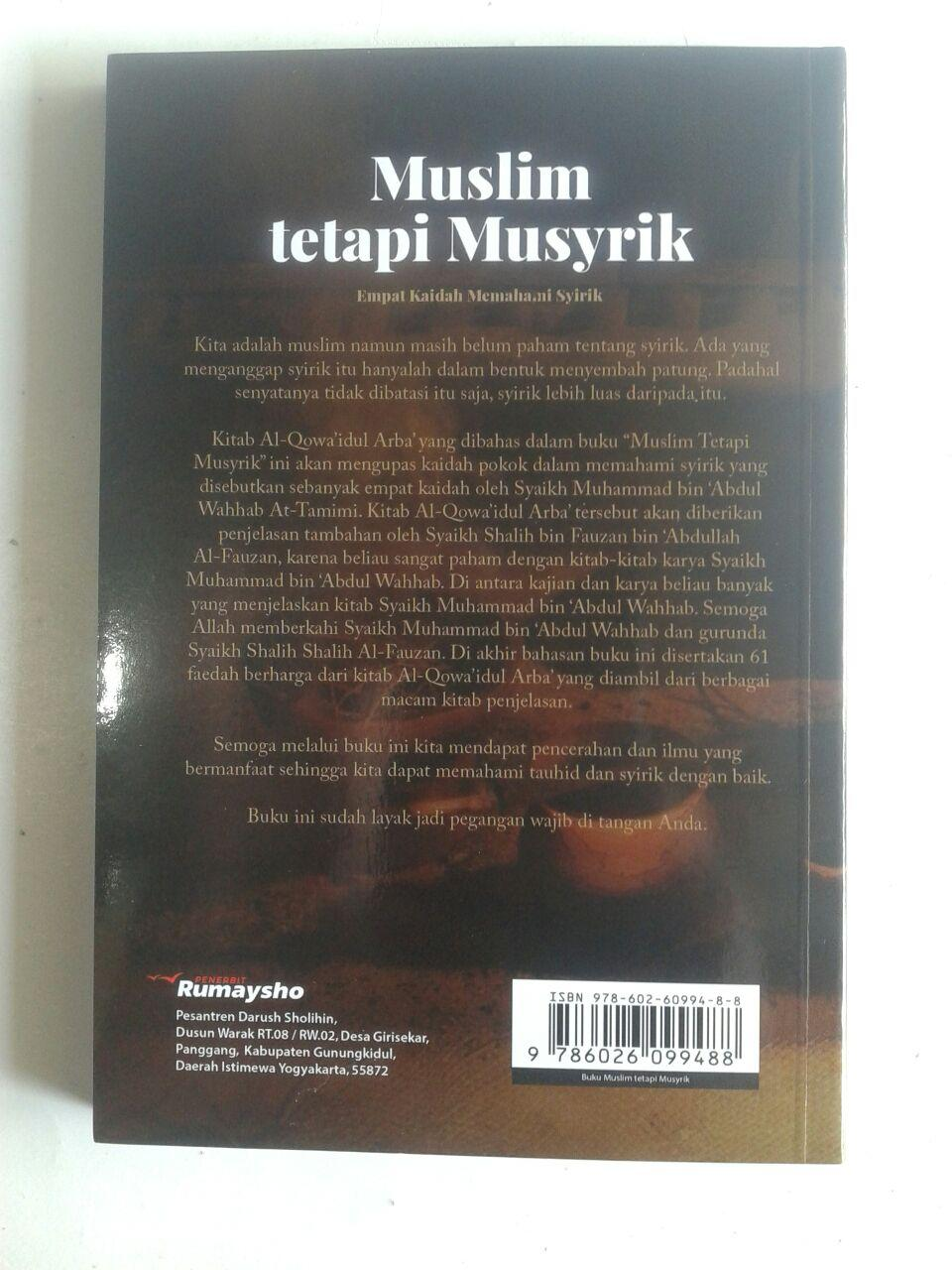 Buku Muslim Tetapi Musyrik Empat Kaidah Memahami Syirik cover