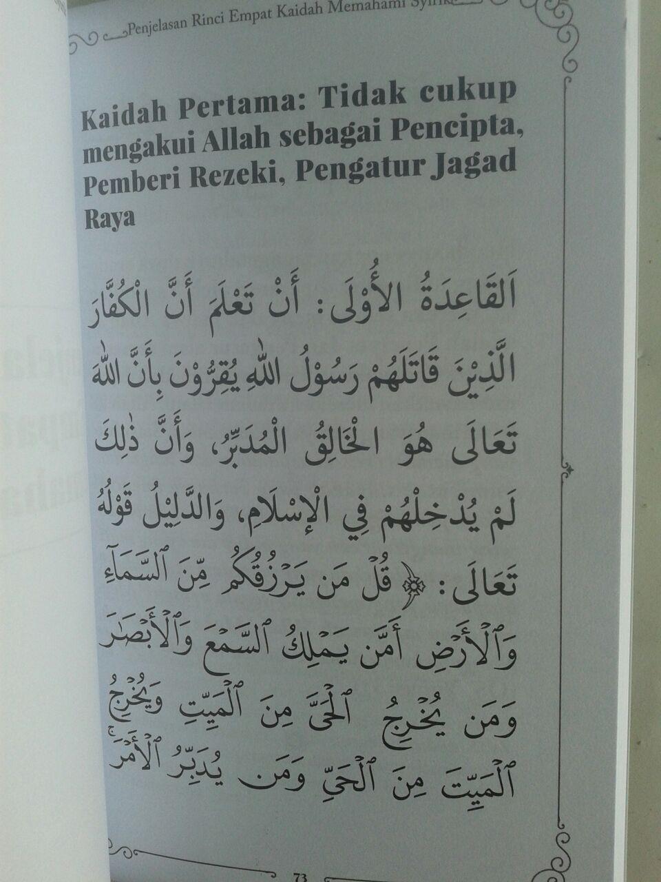 Buku Muslim Tetapi Musyrik Empat Kaidah Memahami Syirik isi