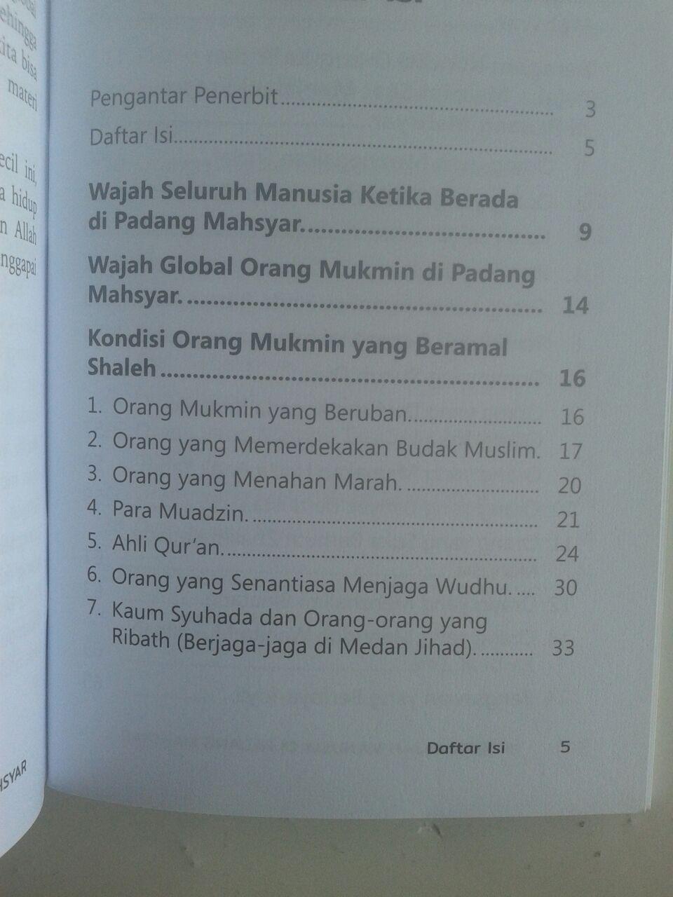 Buku Saku 1001 Wajah Manusia Di Padang Mahsyar isi 2