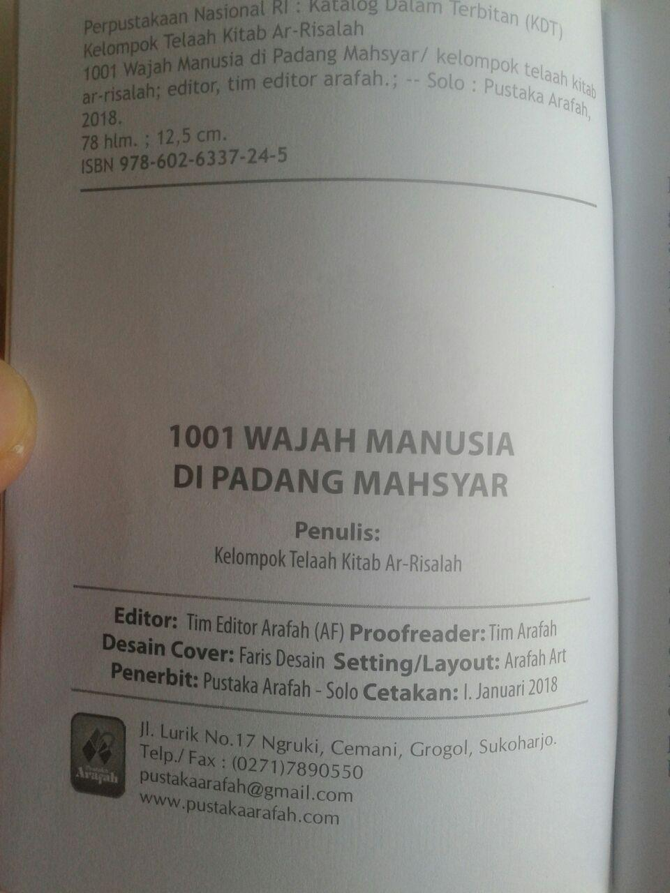 Buku Saku 1001 Wajah Manusia Di Padang Mahsyar isi