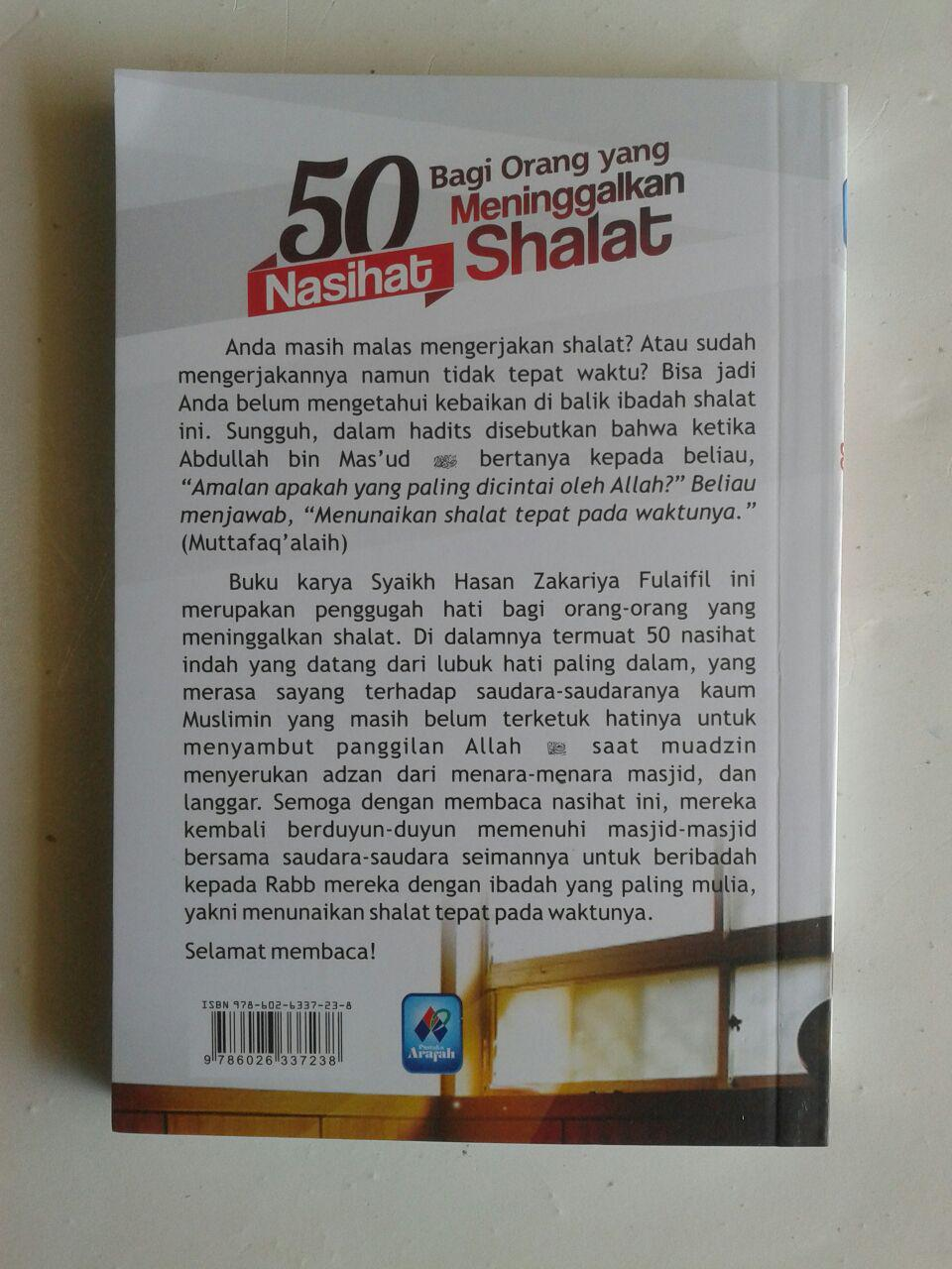 Buku Saku 50 Nasihat Bagi Orang Yang Meninggalkan Shalat cover